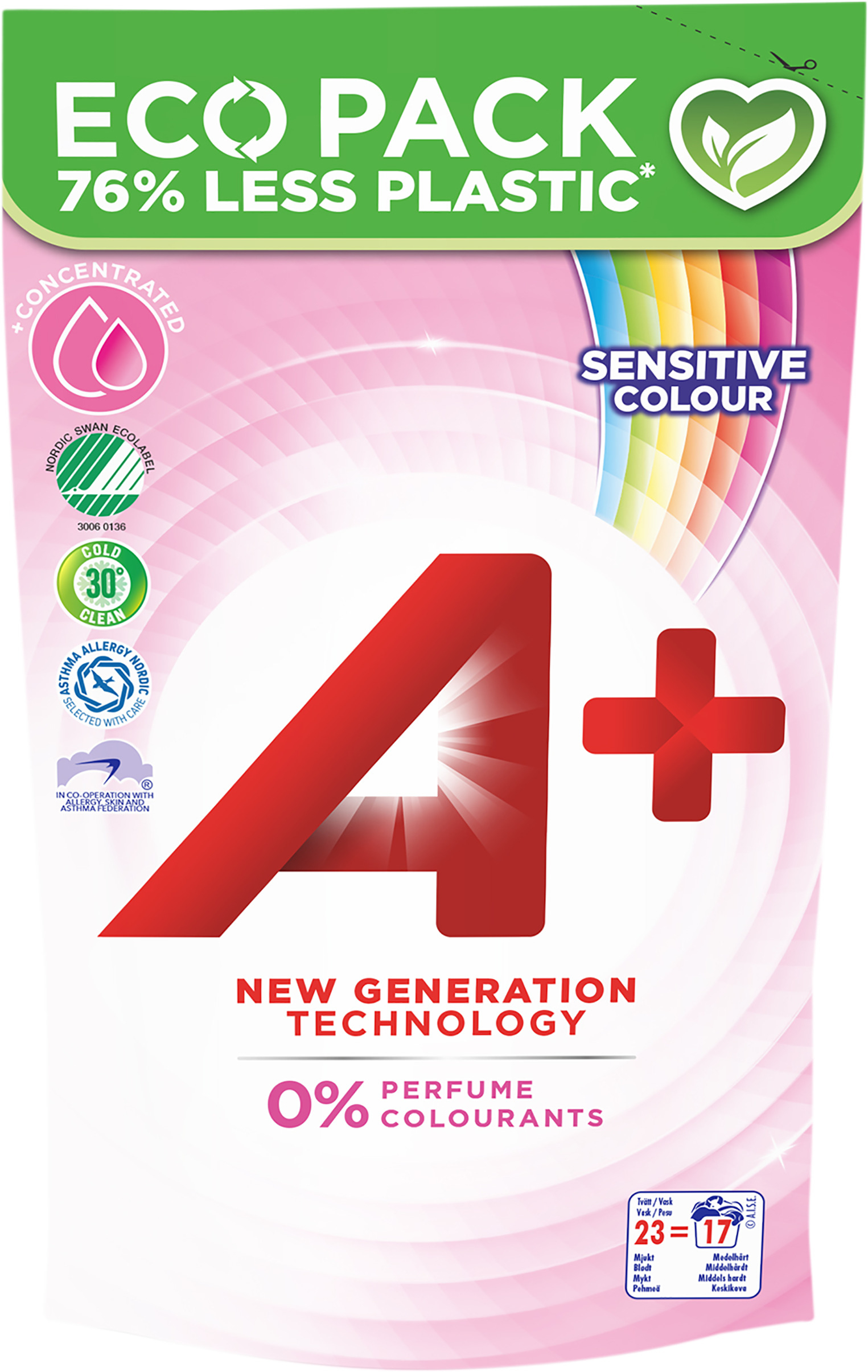 50413 A+ Sensitive Colour Refill 12x920ML High res