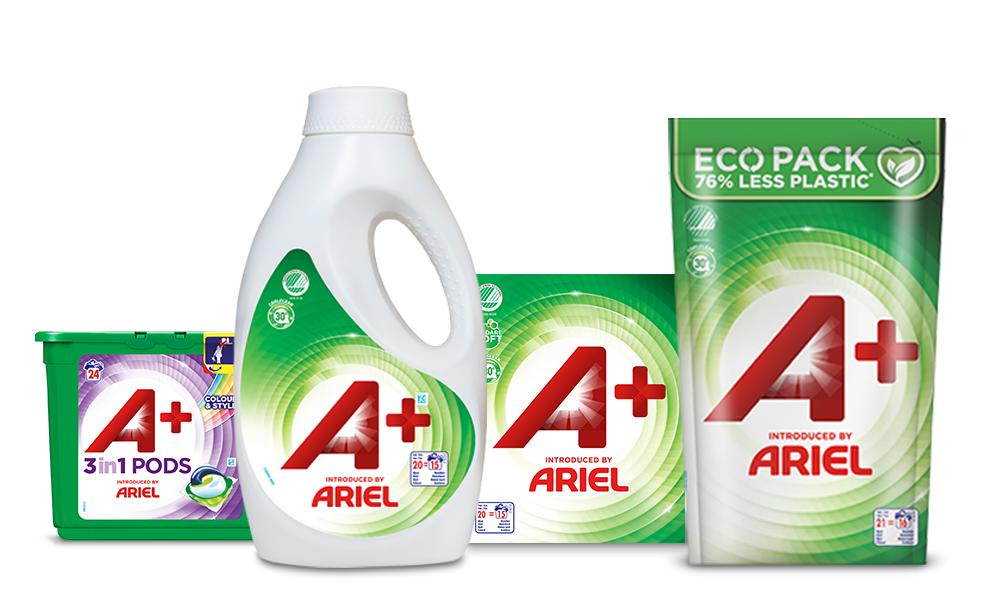ariel a+ detergents